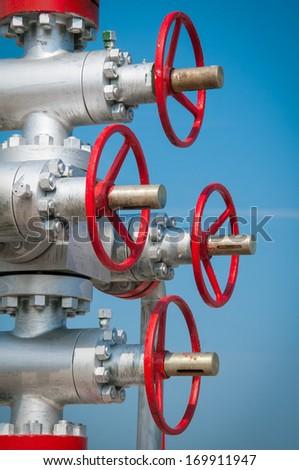 Industrial valves - stock photo