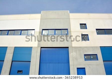 Industrial warehouse - stock photo