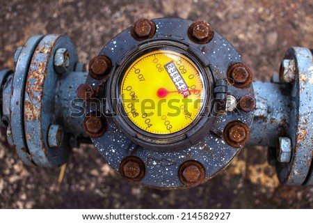 industrial water meter - stock photo