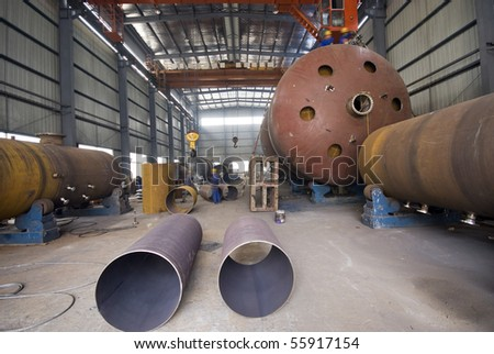 Industrial workshop - stock photo