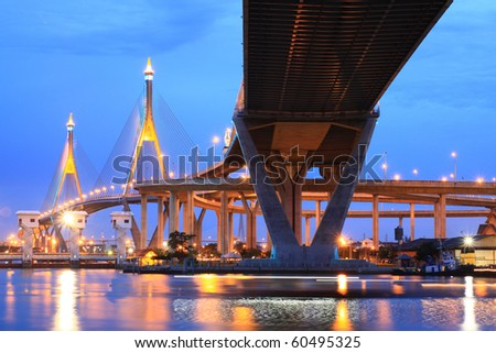 Industry Circle Bridge, Bangkok, Thailand - stock photo