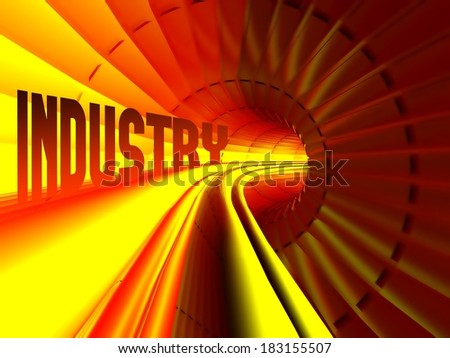 Industry concept, energy flow inside of cable - stock photo
