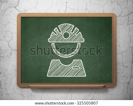 Industry concept: Factory Worker icon on Green chalkboard on grunge wall background - stock photo
