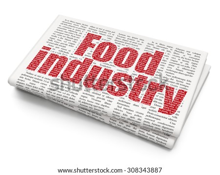 Industry concept: Food Industry on Newspaper background - stock photo