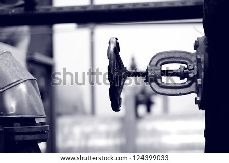 Industry gas and oil pipes - stock photo