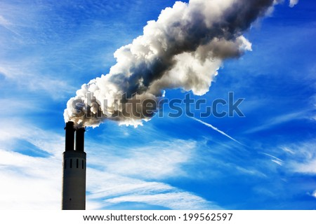 Industry Pipe steaming - stock photo