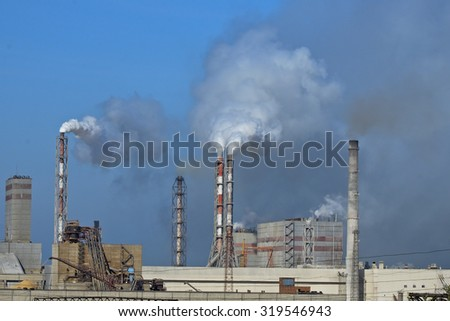 Industry - polution  - stock photo