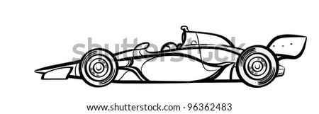 Indycar symbol . Silhouette. - stock photo