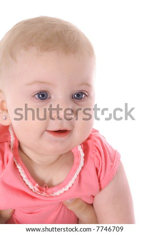 infant baby vertical - stock photo