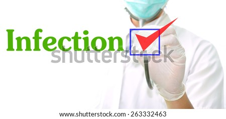 Infection - stock photo
