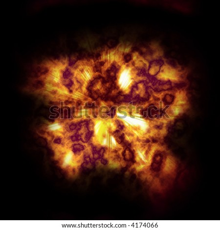 infernal explosion - stock photo