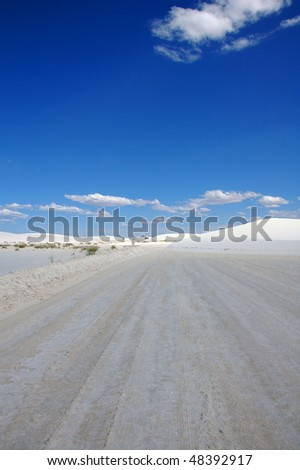Infinite Desert Road - stock photo