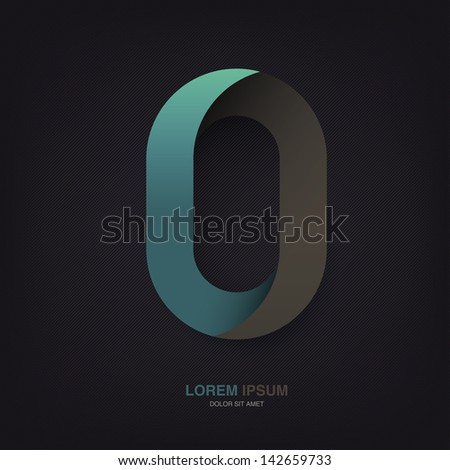 Infinite oval symbol template on dark lines texture. Raster version, vector file available in portfolio. - stock photo