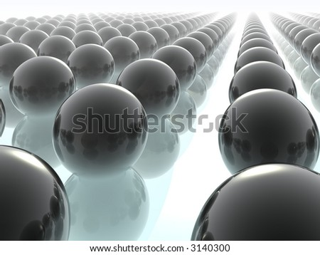 Infinity. Abstract background from spheres. 3D render. - stock photo