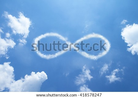 Infinity clouds shape. - stock photo