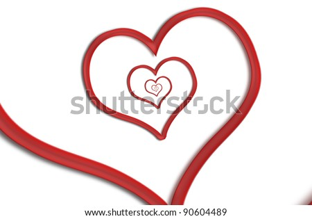 Infinity heart shape illustration. Forever love concept, - stock photo