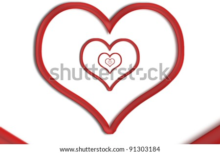 Infinity heart shape illustration. Forever love concept, - stock photo