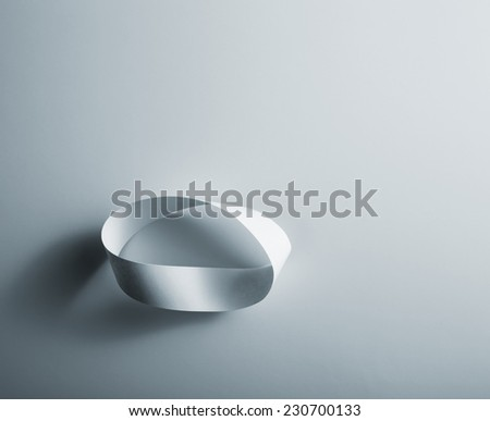 Infinity paper ring - stock photo