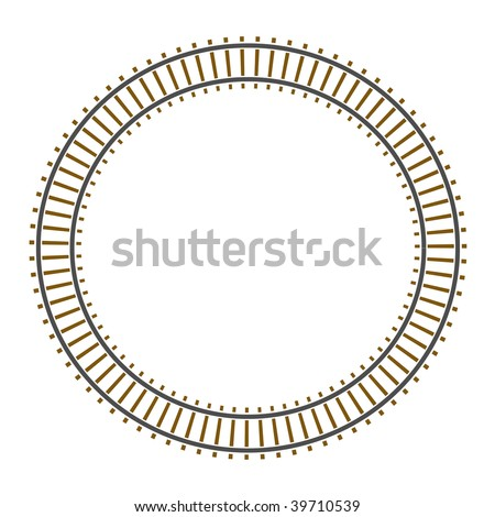 Infinity raster circle train railway track - stock photo