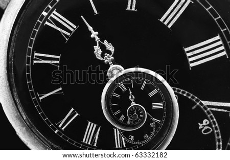 Infinity time. Digital generated infinity like time spiral - stock photo