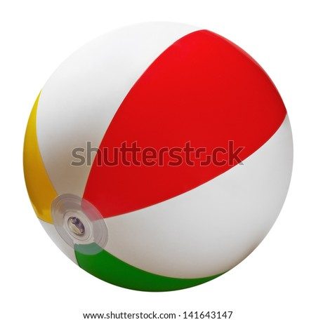 inflatable children's ball games on the beach - stock photo