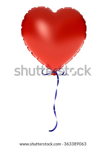 Inflate heart - stock photo