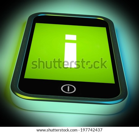 Info Sign On Mobile Showing Information And Assistance - stock photo