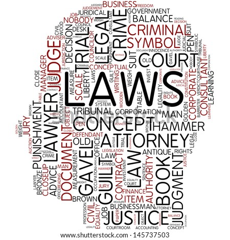 Info-text graphic - laws - stock photo