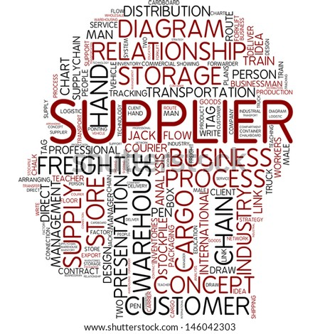 Info-text graphic - supplier - stock photo