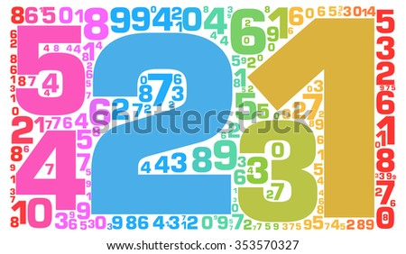 Info-text graphics and arrangement concept (word clouds) - stock photo