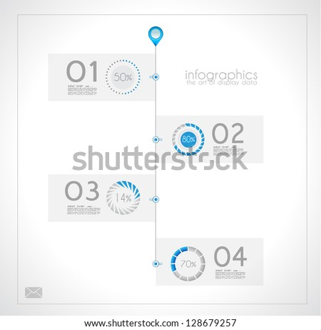 Infographic design for product ranking - original paper geometric shape with shadows. Ideal for statistic data display. - stock photo