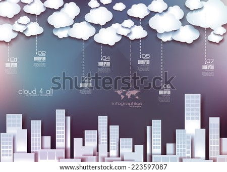Infographic Layout for modern business data presentation and classification. Ideal for item or service ranking or products comparison. - stock photo
