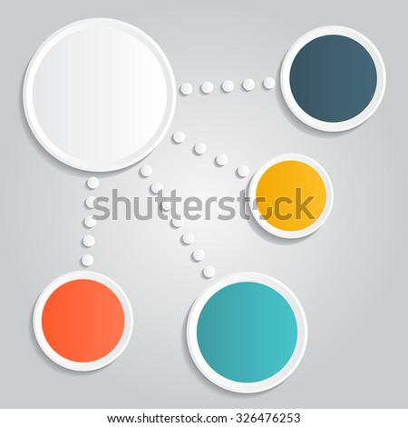 Infographic report template layout. Raster version - stock photo