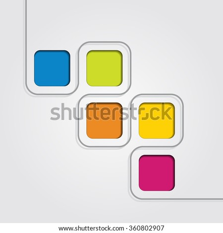 Infographic report template with place for your data. Raster version - stock photo