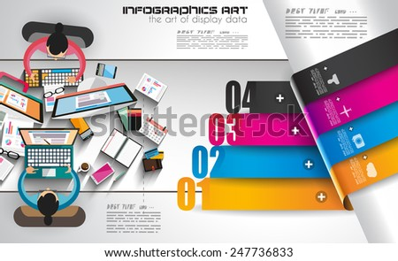Infographic template with flat UI icons for ttem ranking. Ideal to use for marketing studies display, features ranking, strategy illustrations, seo optimization and social media. - stock photo