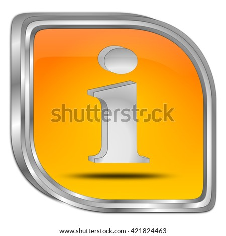 Information Button - 3D illustration - stock photo