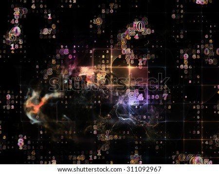 Information Cloud series. Design made of connected abstract elements to serve as backdrop for projects related to cloud networking, information, data storage and modern technology - stock photo