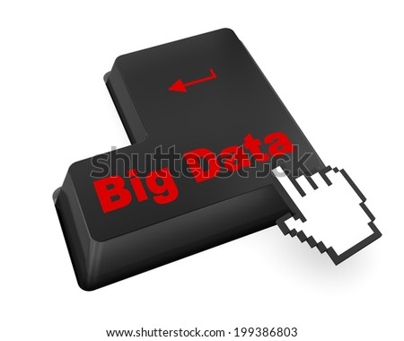 Information concept: computer keyboard with word Big Data - stock photo