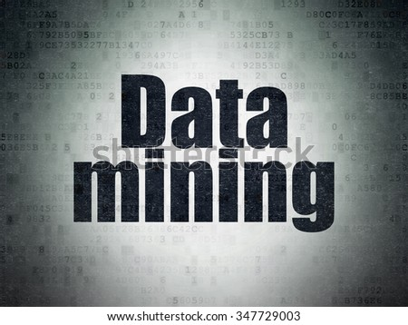 Information concept: Painted black word Data Mining on Digital Paper background - stock photo