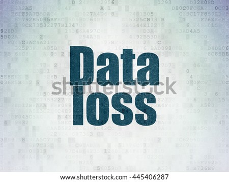 Information concept: Painted blue word Data Loss on Digital Data Paper background - stock photo