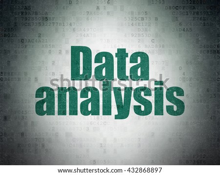 Information concept: Painted green word Data Analysis on Digital Data Paper background - stock photo