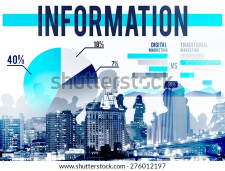 Information Data Facts FAQs Results Concept - stock photo