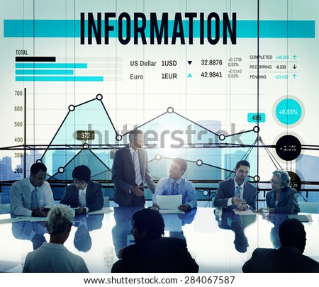 Information Data Info Fact Technology Concept - stock photo
