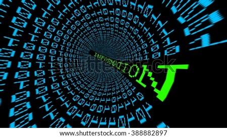 Information data tunnel - stock photo