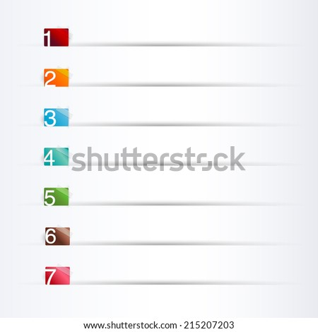 Information graphic tag  Numbers - stock photo
