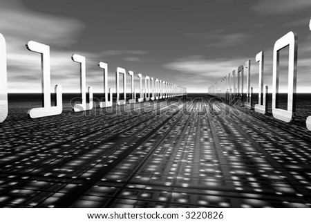 Information Highway - stock photo