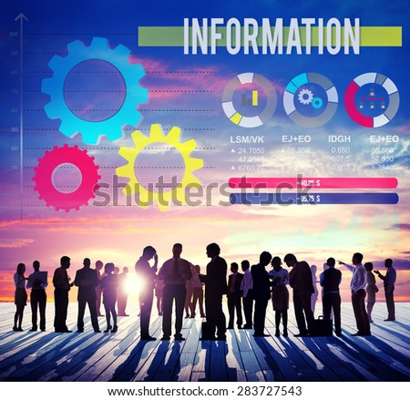 Information Learning Info Communication Results Concept - stock photo