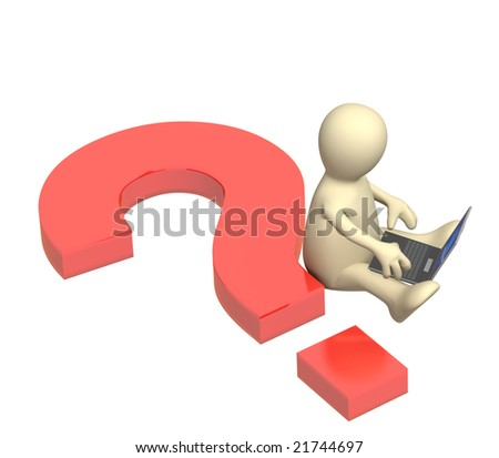 Information search in the Internet - stock photo