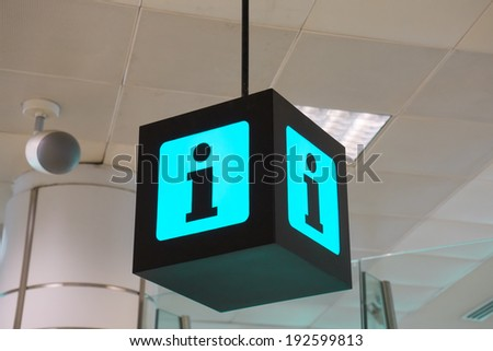 Information sign at airport  - stock photo