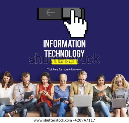 Information Technology Computer System Concept - stock photo